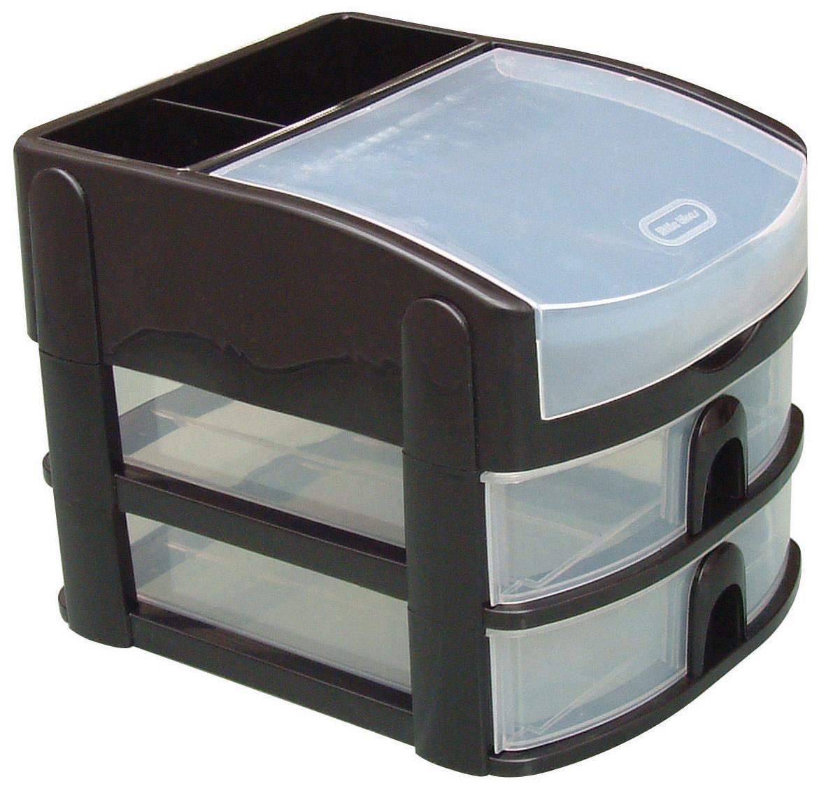 CURVER - Mini tour 2 tiroirs + couvercle - Noir - 811484 - pas cher Achat / Vente Boîte de ...