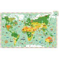 """Djeco - puzzle 200 pièces """"le tour du monde"""
