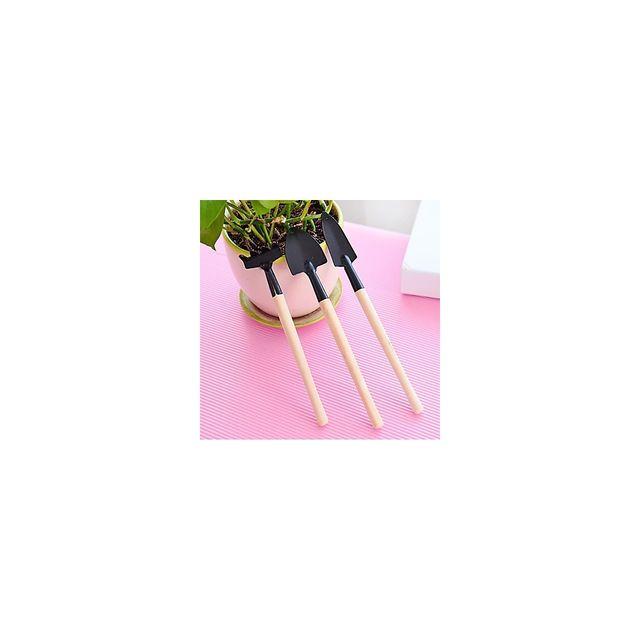 Alpexe - Lot de 3 accessoires de jardinage miniature pelle bineuse rateau pour plantes d interieur 22,5 cm x 3 cm - Ceci n'est pas un jou