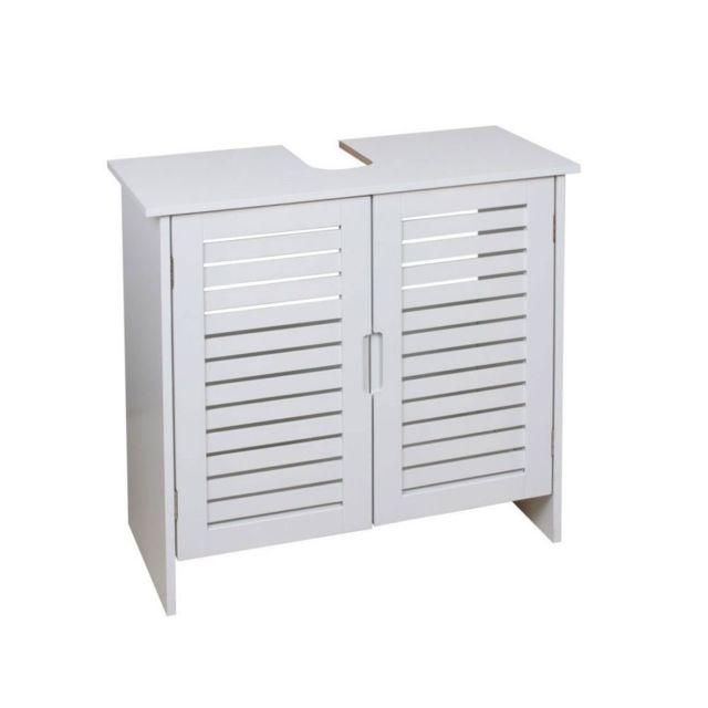 FRANDIS Meuble SDB sous lavabo - bois blanc Meuble SDB sous lavabo - bois blanc