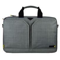 TECHAIR - Sacoche EVO 12 à 13 ' ,Polyester texturé gris, intérieur peluche , poches accessoires, organiser