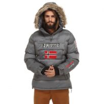 Geographical Norway - Parka Doudoune homme Bolide gris Géographical Norway
