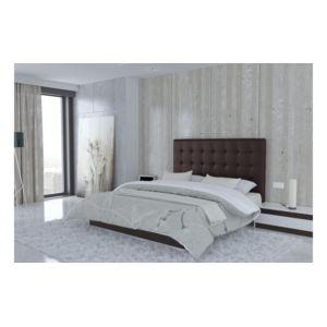 usinestreet t te de lit en simili cuir chocolat 140 cm venise pas cher achat vente. Black Bedroom Furniture Sets. Home Design Ideas