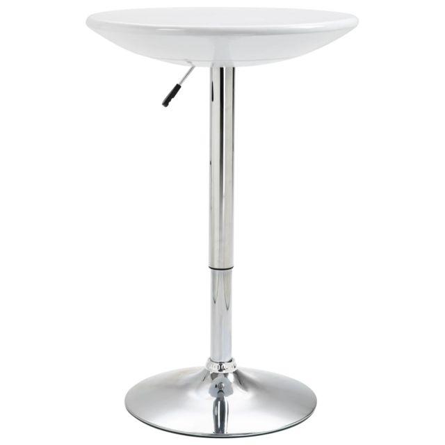 Distingué Tables famille Saint-Domingue Table de bar Blanc Ø60 cm ABS