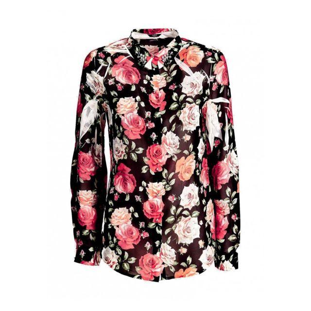 5ae84659958dfb Guess - Chemisier Femme Clouis Motifs floral W91H68 - Taille - Xs ...