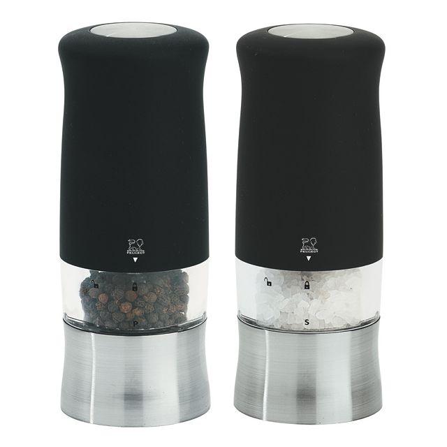 PEUGEOT ensemble moulin électrique sel et poivre 14cm noir - 22563 + 22570