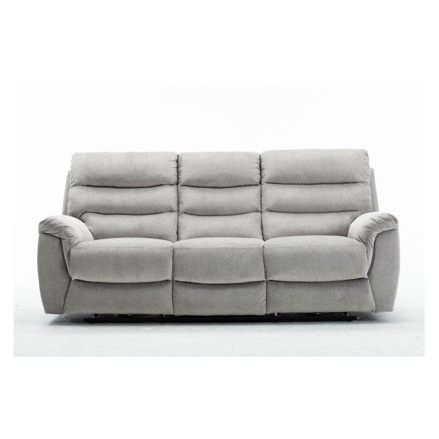 Moloo Arona-canapé 3 places tissu gris 2 Relax électriques