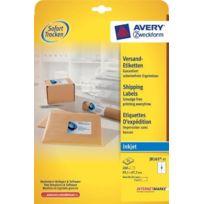 Avery - Zweckform J8165-25 Lot de 25 feuilles d'étiquettes d'adresse pour enveloppes C4/C5 99,1 x 67,7 mm Import Allemagne