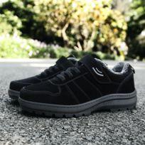 Chaussures Chaussure de ville confortable et décontractée en coton froid antidérapante, moyen à un vieil âge Couleur: Noir Taille: 39