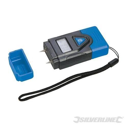 Silverline - Déstockage - Hygromètre digital humidité bois,plâtre, béton, mortier