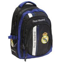 Real Madrid - Sac à dos Black Basic 46 Cm Haut de Gamme - 3 Cpt