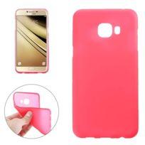 Wewoo - Coque rouge pour Samsung Galaxy C7 / C700 de protection en Tpu givré