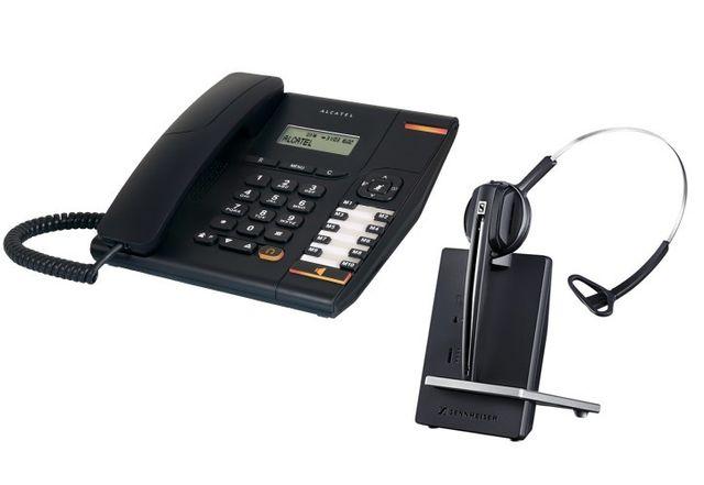b8b5201c4aaa47 Alcatel - Temporis 580 avec casque Sennheiser D10 - pas cher Achat   Vente  Téléphone fixe filaire - RueDuCommerce