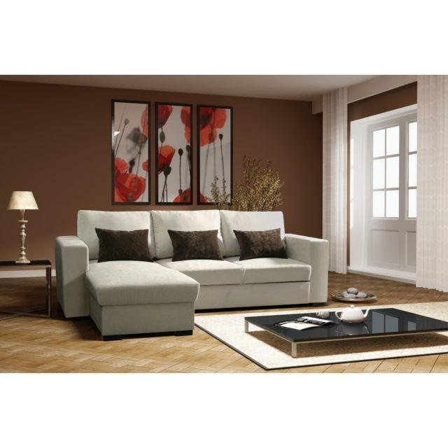 Rocambolesk Canapé Joe ibiza beige tissu sofa divan