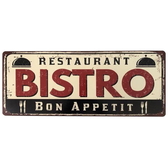 Plaque Pub en M/étal Murale Restaurant Bistro Deco Cuisine 50 cm x 20 cm