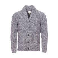 Dockers - Cardigan col châle en laine mélangée gris anthracite chiné