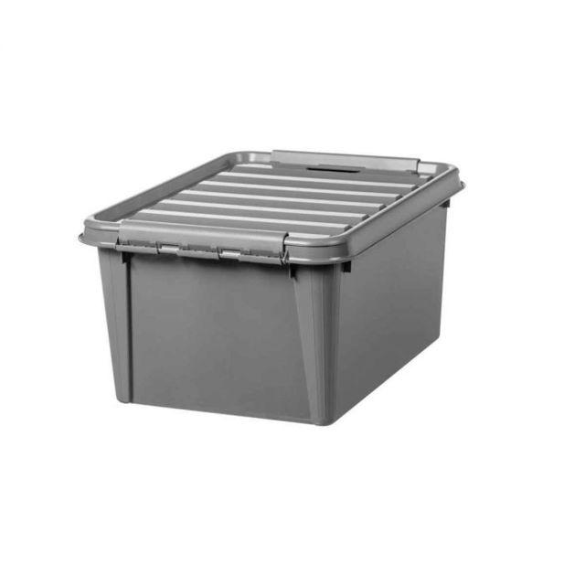 Carrefour Boite De Rangement Recycled 31 32 Litres Taupe Pas Cher Achat Vente Boite De Rangement Rueducommerce
