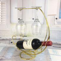 Premium Exécution en métal Porte-Bouteille chromé Des bouteilles support