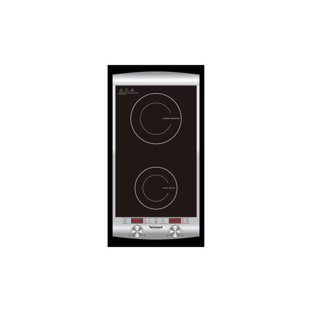 Techwood Tpid-229 - Double plaque de cuisson a induction - 1300 W + 1600 W - Led