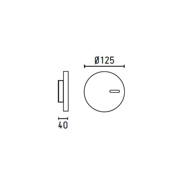 Faro - Applique Murale Extérieur Blanche 2W Code 71526