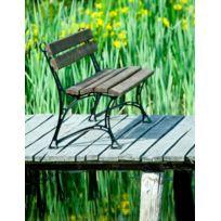 Garden - Banc de jardin en bois couleur palissandre et aluminium 180 cm