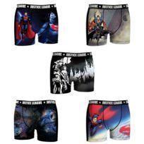 Dc Comics - Lot de 5 Boxers Homme Justice League