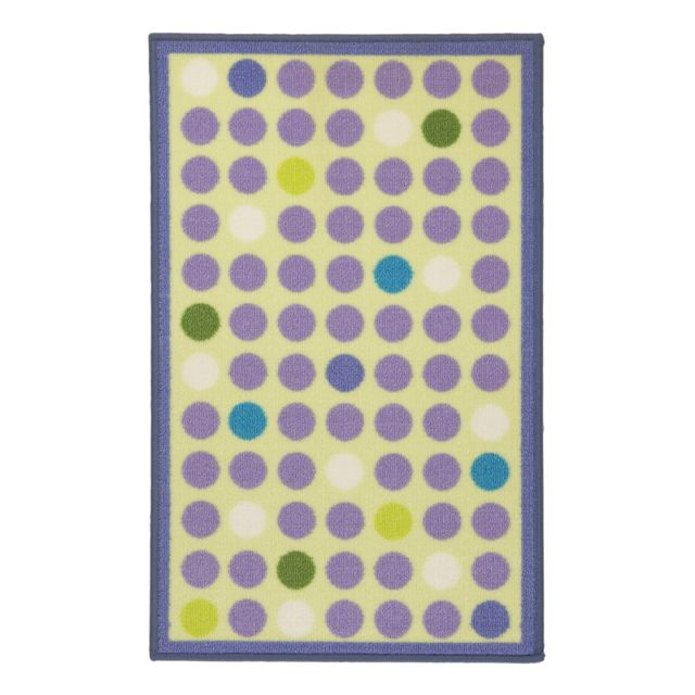 Mon Beau Tapis - Tapis Bio Line 80x50cm, Rond multi Violet - pas ...
