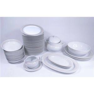 Service de table vaisselle en porcelaine de baviere pour - Carrefour vaisselle de table ...