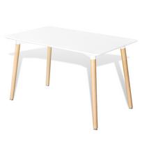 Rocambolesk - Superbe Table rectangulaire blanc mat Neuf
