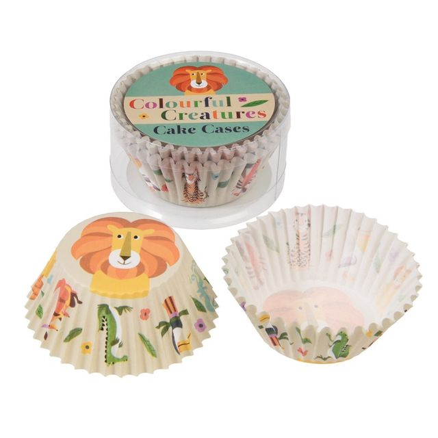 Dotcomgiftshop Set de 50 Moules à Cupcakes Colourful Creatures