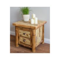 Homestyle4U - Bambou Table de nuit commode Brun