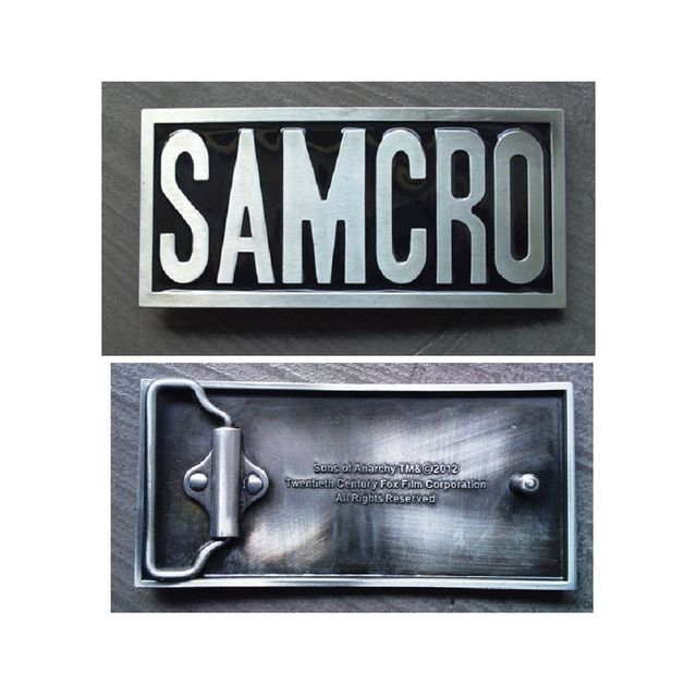 5276679acd9d Universel - Boucle de ceinture sons of anarchy samcro rectangulaire bike
