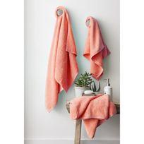 Finlandek - Bain - Finlandek Set de 2 Draps de douche 70x140 cm + 1 serviette de toilette 50x100 cm Kylpy corail