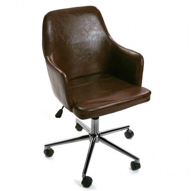 fauteuil vintage marron. Black Bedroom Furniture Sets. Home Design Ideas