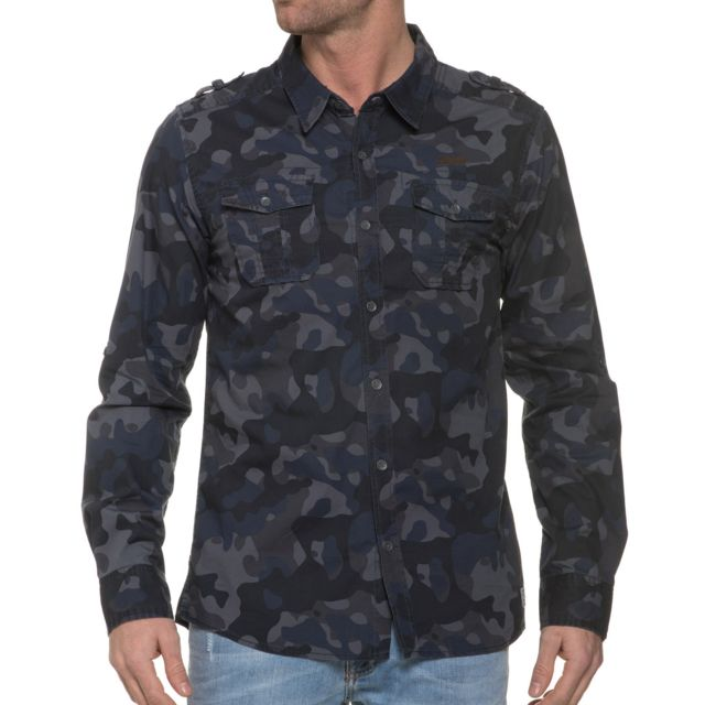 MZGZ Chemise col chemise bleue