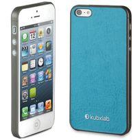 Kubxlab - Coque effet peau turquoise iPhone 5