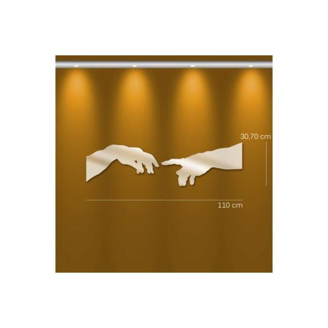 Declikdeco Miroir création d'Adam Pm argenté en verre Urania 31 x 110 cm