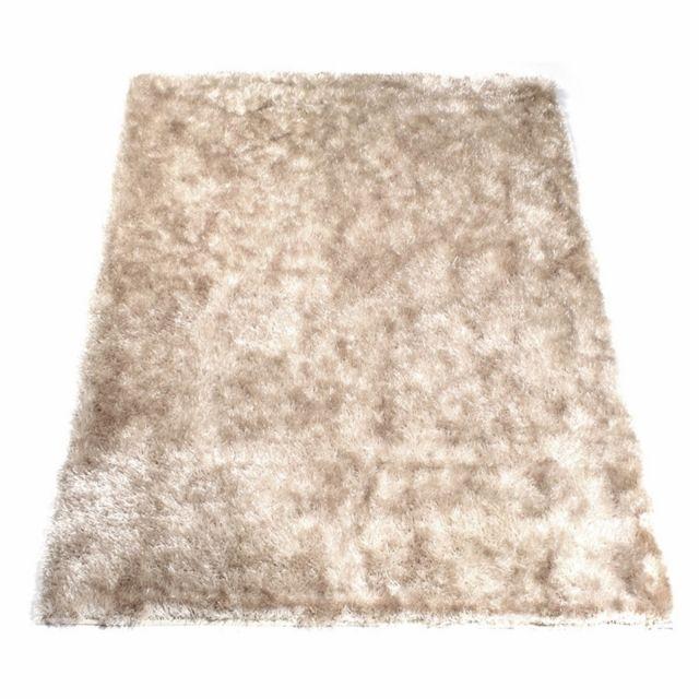 matin calin tapis shaggy beige 50 x 80 cm pas cher. Black Bedroom Furniture Sets. Home Design Ideas
