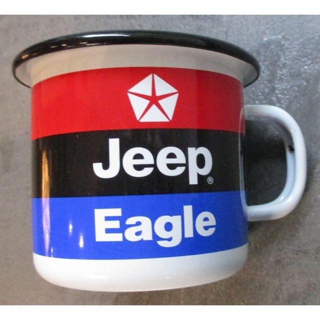 Universel Mug jeep eagle tricolore en email tasse à café emaillée