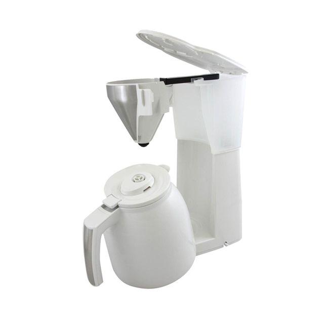MELITTA CAFETIÈRE EASY TOP THERM BLANC/ACIER BROSSÉ Easy Top Therm, une cafetière filtre simple et facile d'utilisation pour un usage quotidien. Unefonction therm pour maintenir votre café au chaud plus longtemps.