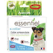 Agecom - Collier antiparasitaire Essential rouge pour chien 41 cm