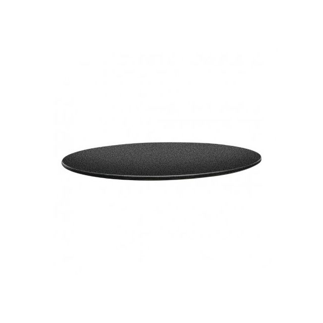 Topalit Plateau de table rond 700 mm - Smartline anthracite - Anthracite 700 Ø, mm