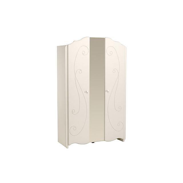 Armoire 2 portes - laqué blanc