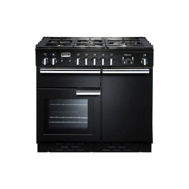 Sans Marque Cuisiniere Mixte 100cm Falcon Pdl100dfgbc 5gaz 3fours Elec Noir Brillant Chrome