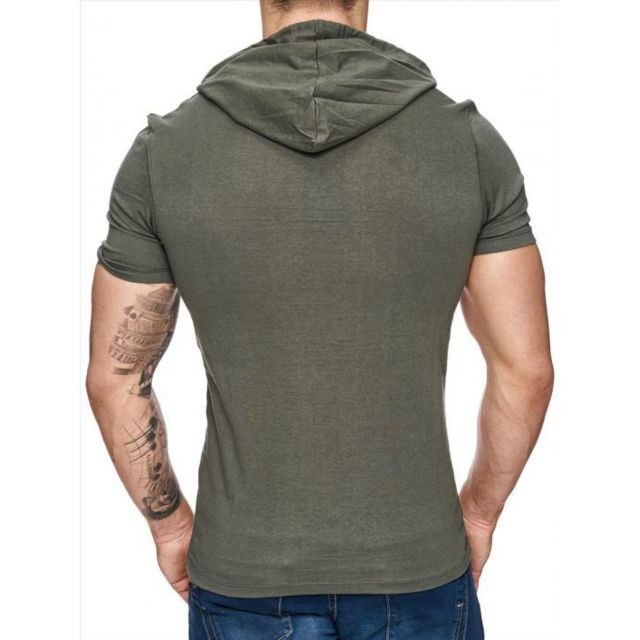 Freeside - Tee shirt capuche 16107 Kaki Vert