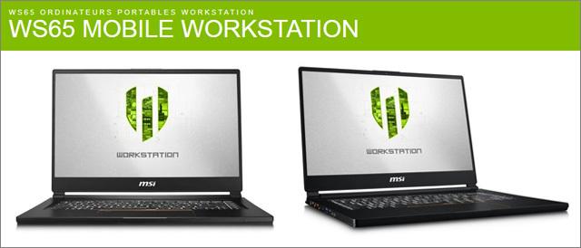MSI WORKSTATION WS65 - ILLUSTRATION