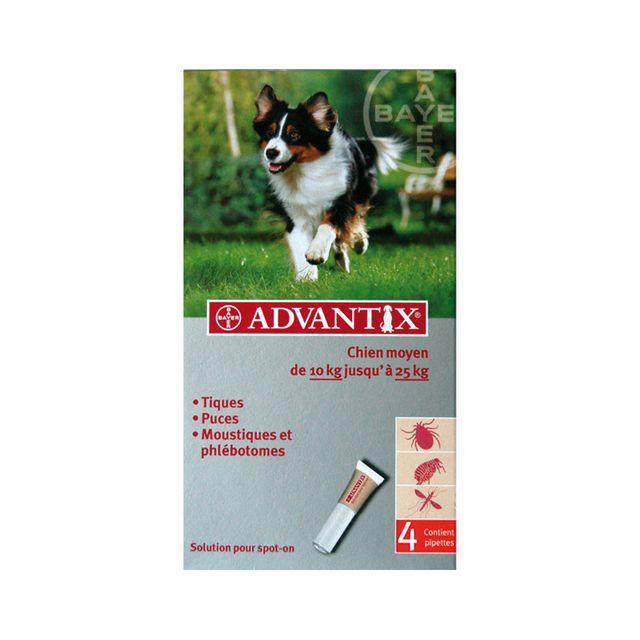 Advantix Pipettes anti-puces chien moyen 10 à 25kg