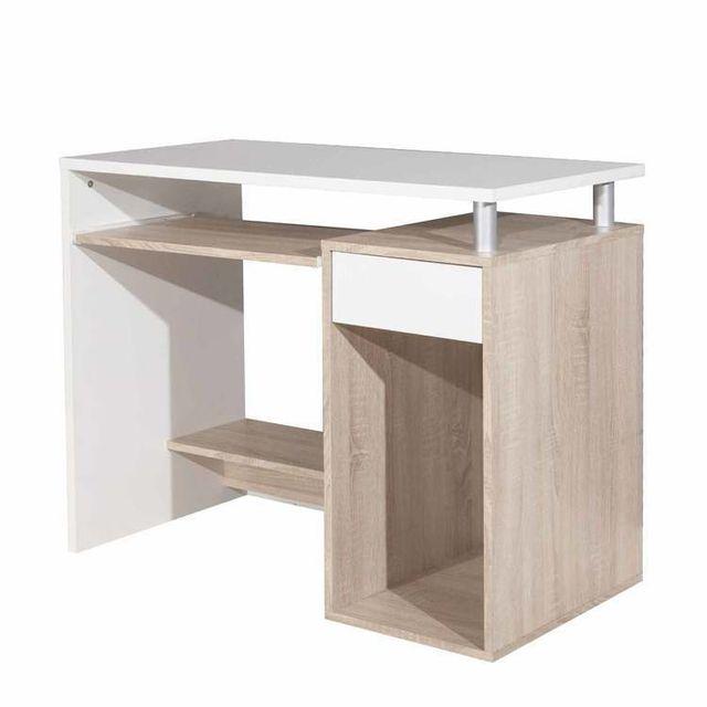 marque generique bureau informatique en bois longueur 99cm hades pas cher achat vente. Black Bedroom Furniture Sets. Home Design Ideas