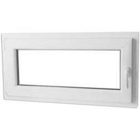 Rocambolesk - Superbe Fenêtre oscillo-battant en Pvc Poignée sur la droite 1000 x 500 mm Neuf