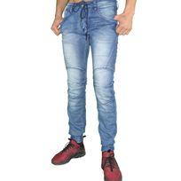 Autre - One Two One Two - Jogger Pants - Homme - Bf6089s - Slim Fit - Bleu Stone Délavé